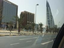 Modern buildings in Manama
