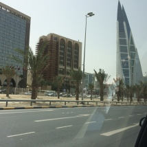 Modern buildings in Manama