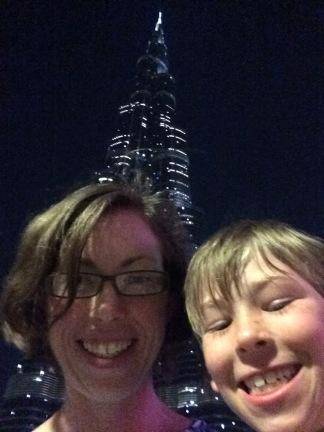 The Burj Kalifa light show